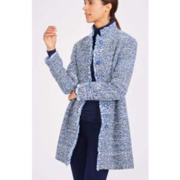 J. McLaughlin Jackets & Blazers - J. McLaughlin Modern Denim Blue Tweed Coat